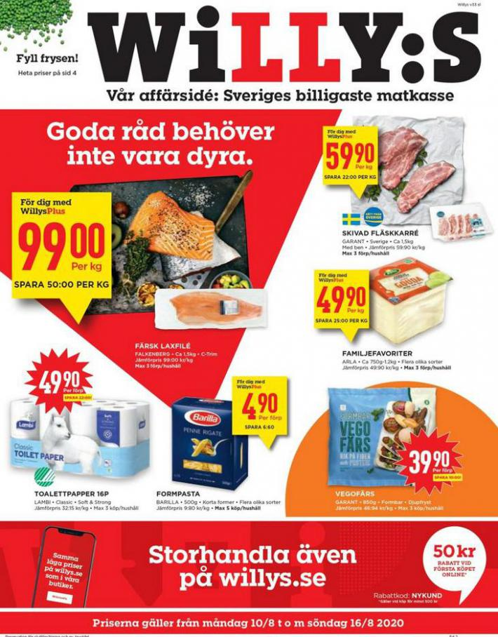 Willys reklamblad . Willys (2020-08-16-2020-08-16)