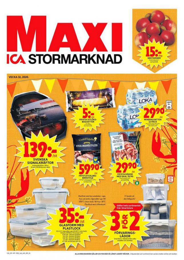 ICA Maxi Erbjudanden . ICA Maxi (2020-08-09-2020-08-09)