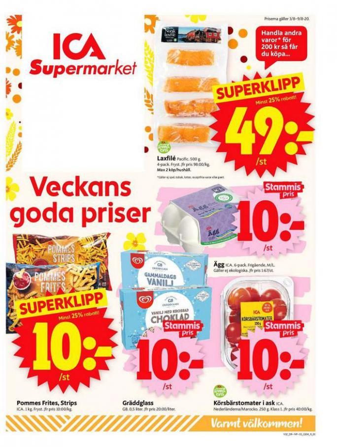 ICA Supermarket Erbjudanden . ICA Supermarket (2020-08-09-2020-08-09)