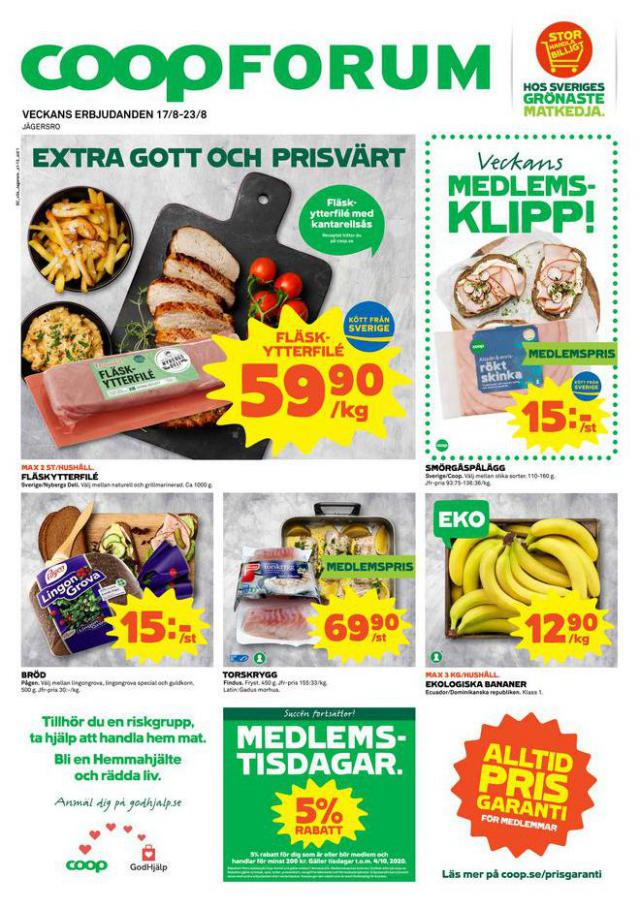 Coop Forum reklamblad . Coop Forum (2020-08-23-2020-08-23)
