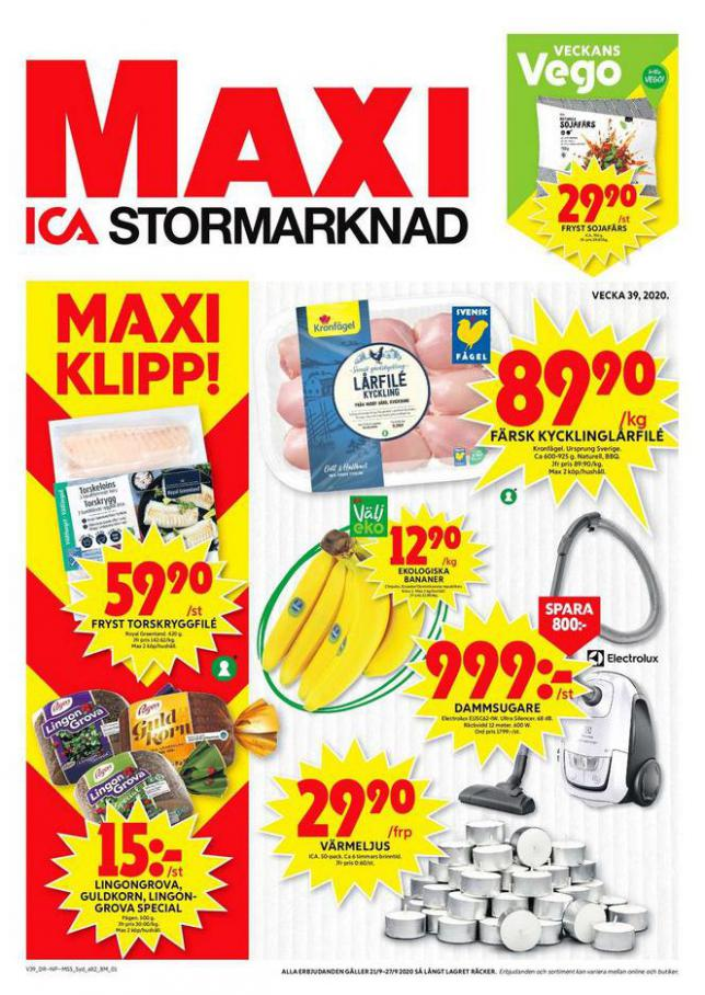 ICA Maxi Erbjudanden . ICA Maxi (2020-09-27-2020-09-27)