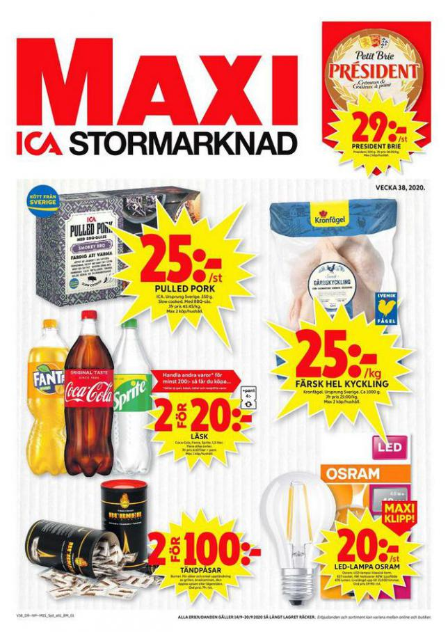 ICA Maxi Erbjudanden . ICA Maxi (2020-09-20-2020-09-20)