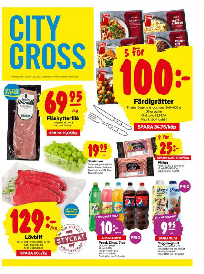 City Gross reklamblad . City Gross (2020-09-27-2020-09-27)