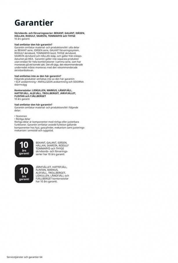 Arbete, studier och hobby 2021 . Page 64