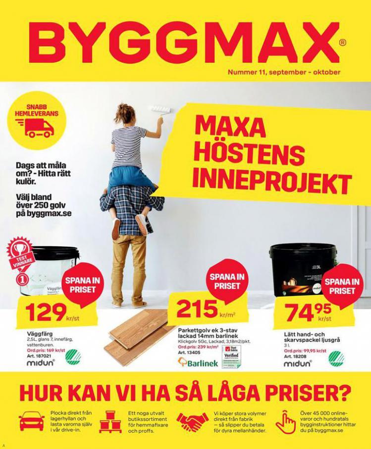 Byggmax Erbjudande Maxa Höstens Inneprojekt . Byggmax (2020-10-11-2020-10-11)