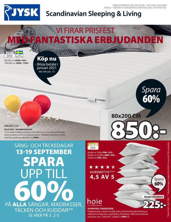 JYSK Erbjudande Price Party . JYSK (2020-09-26-2020-09-26)
