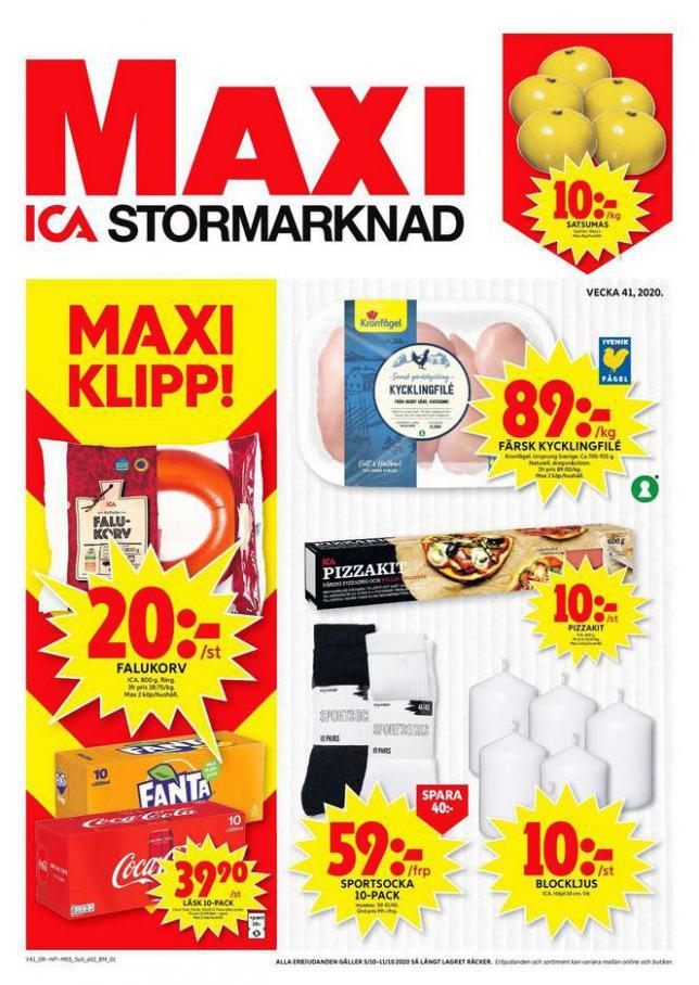 ICA Maxi Erbjudanden . ICA Maxi (2020-10-11-2020-10-11)