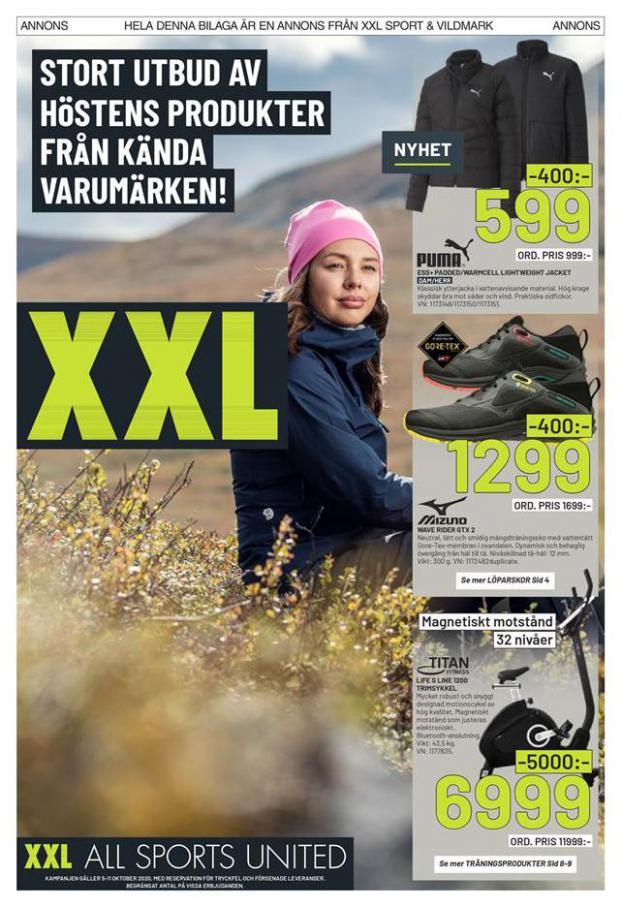 XXL Erbjudande Stort utbud av höstens produkter från kända varumärken! . XXL (2020-10-11-2020-10-11)