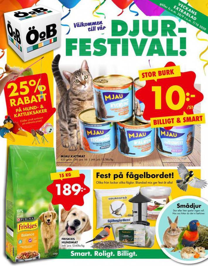 ÖoB Erbjudande Djur Festival! . ÖoB (2020-10-07-2020-10-07)