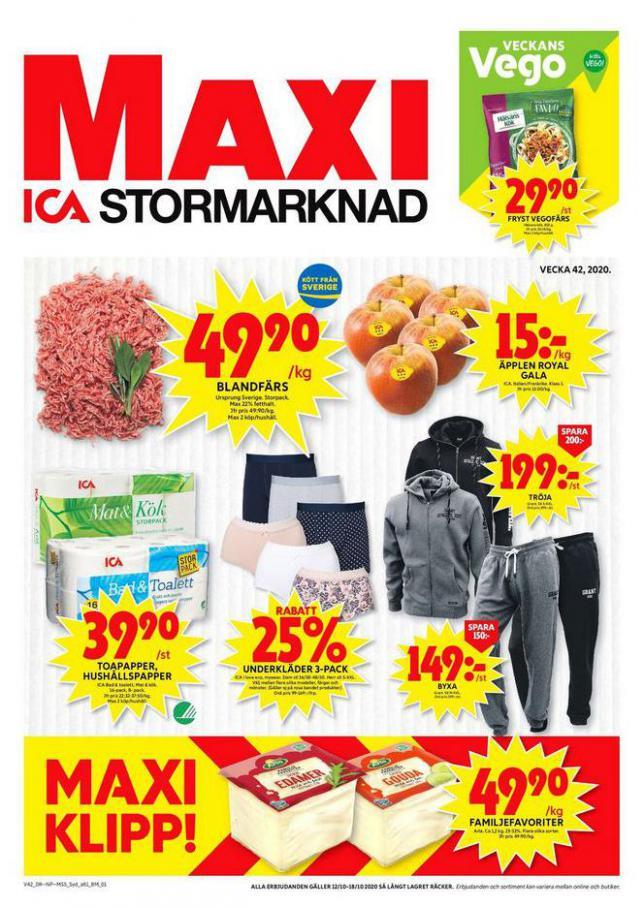 ICA Maxi Erbjudanden . ICA Maxi (2020-10-18-2020-10-18)