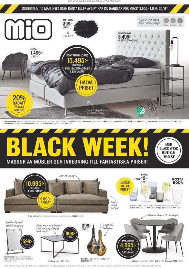 Mio Erbjudande Black Week! . Mio (2020-11-30-2020-11-30)