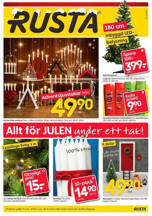 Rusta Erbjudande Allt för JULEN under ett tak! . Rusta (2020-11-15-2020-11-15)