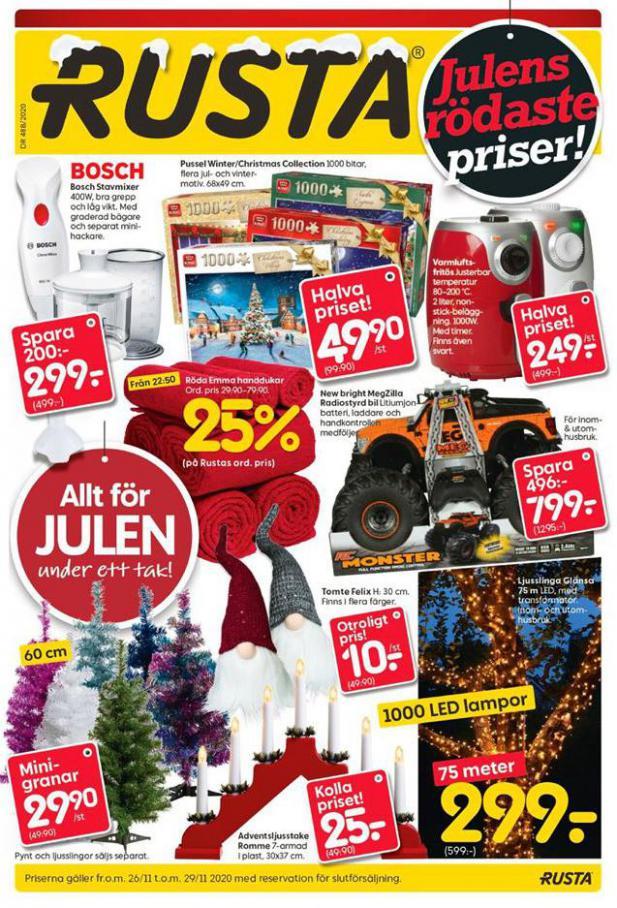 Rusta Erbjudande Julens rödaste priser! . Rusta (2020-11-29-2020-11-29)