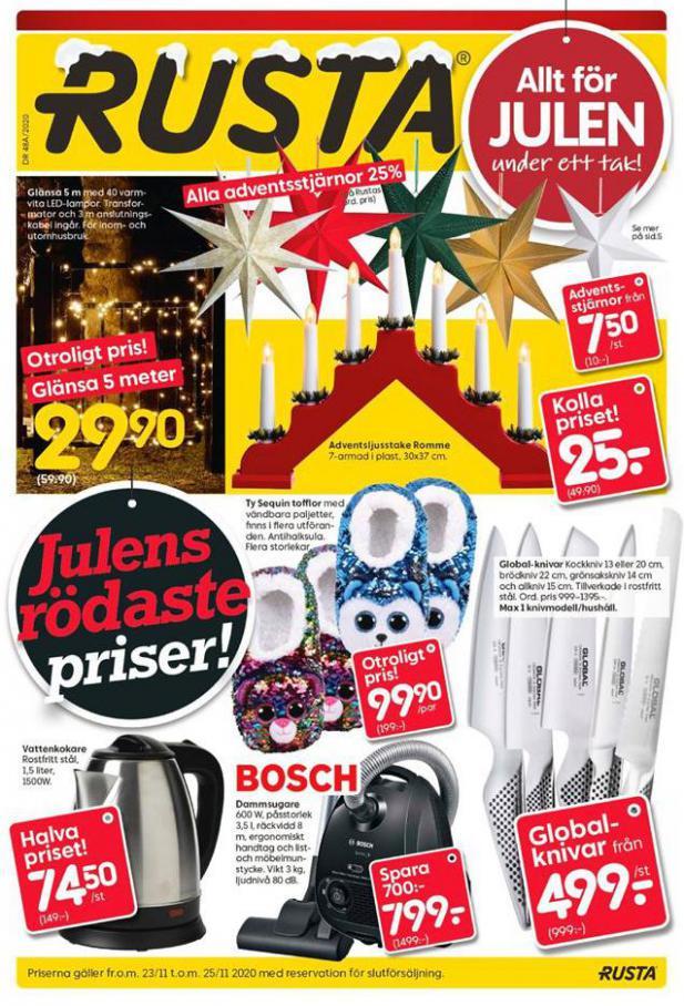 Rusta Erbjudande Julens rödaste priser! . Rusta (2020-11-25-2020-11-25)