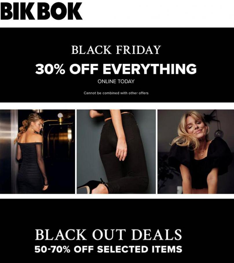 Erbjudande Bik Bok Black Friday . Bik Bok (2020-11-29-2020-11-29)