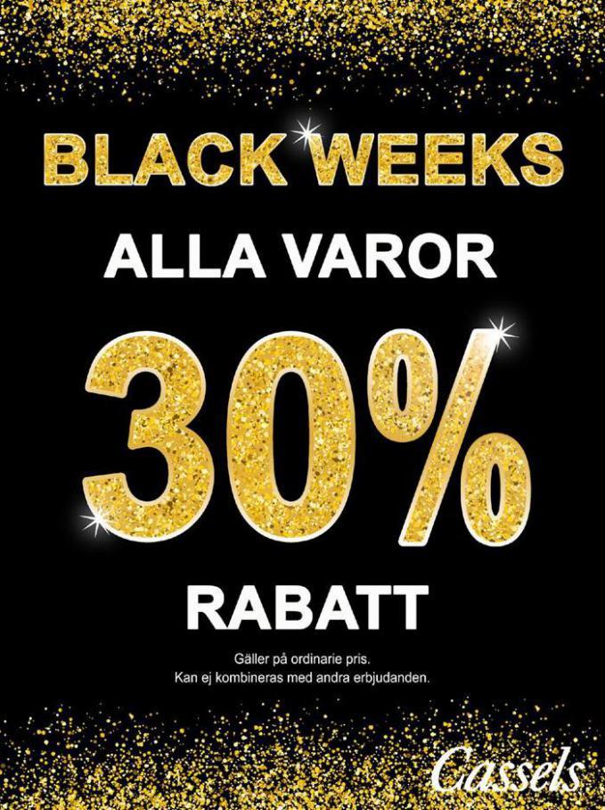 Black Weeks . Cassels (2020-11-22-2020-11-22)