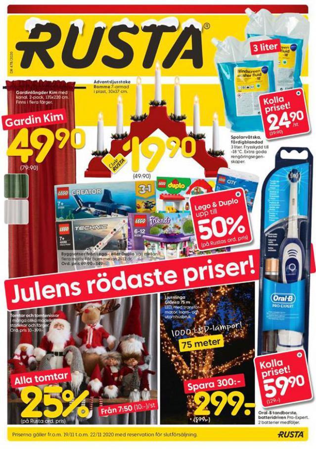 Rusta Erbjudande Julens rödaste priser! . Rusta (2020-11-22-2020-11-22)