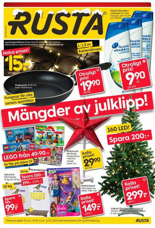 Rusta Erbjudande Mängder av julklipp! . Rusta (2020-12-02-2020-12-02)
