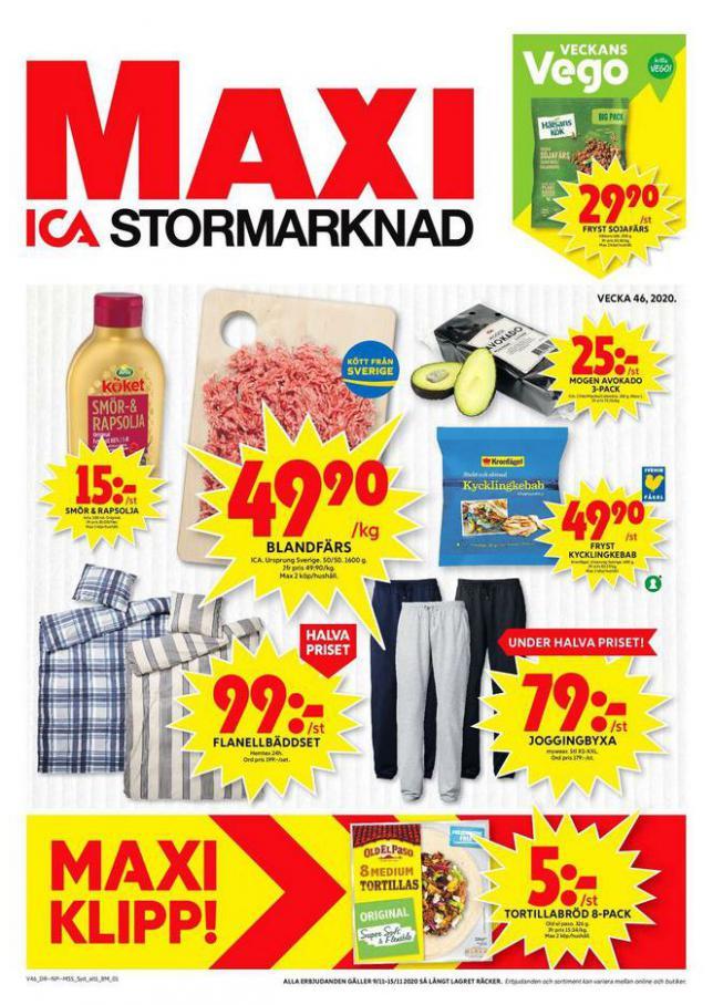 ICA Maxi Erbjudanden . ICA Maxi (2020-11-15-2020-11-15)