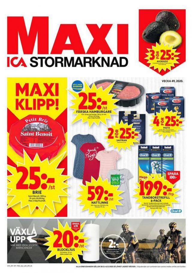 ICA Maxi Erbjudanden . ICA Maxi (2020-12-06-2020-12-06)