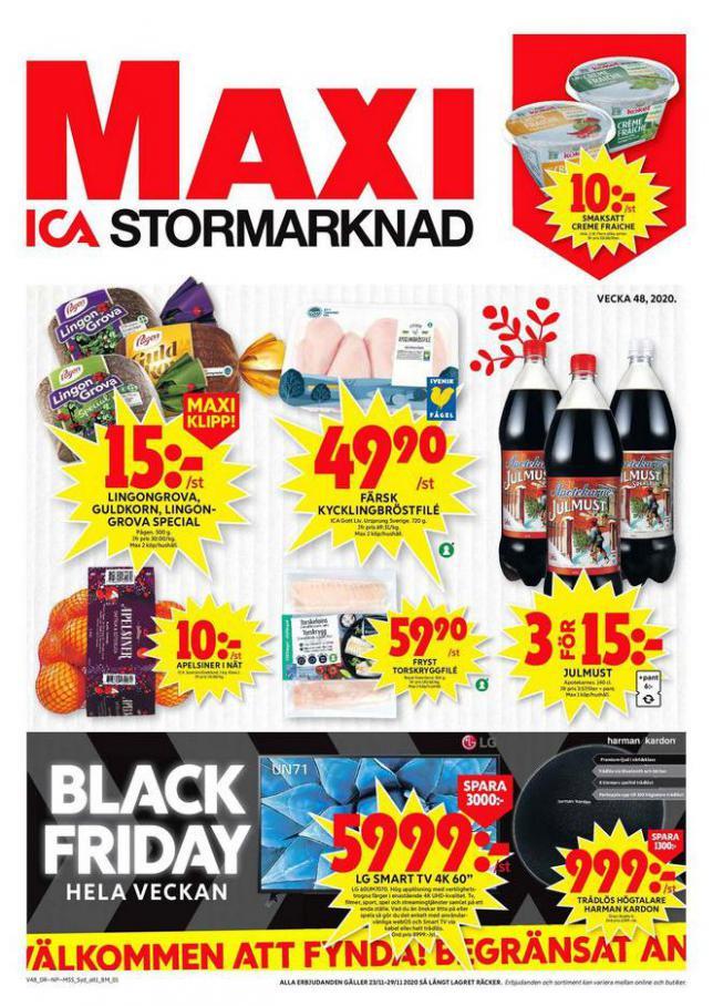 ICA Maxi Erbjudanden . ICA Maxi (2020-11-29-2020-11-29)
