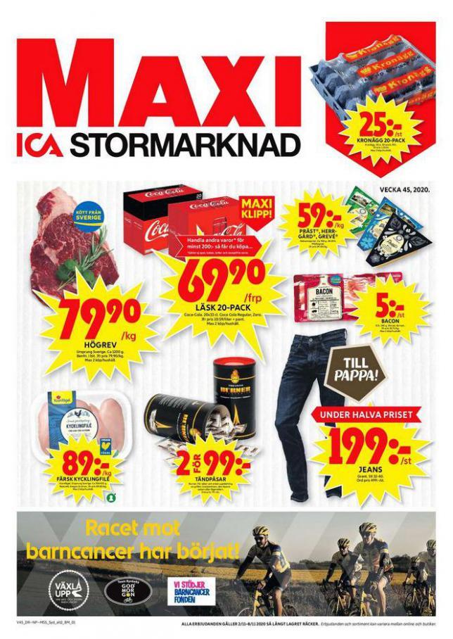 ICA Maxi Erbjudanden . ICA Maxi (2020-11-08-2020-11-08)