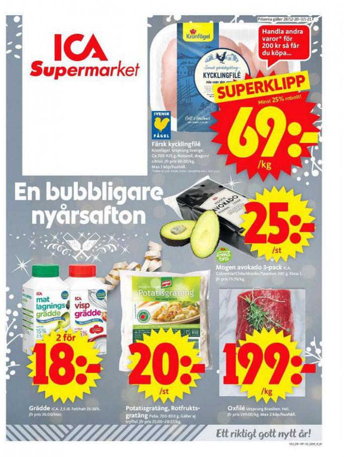 ICA Supermarket Erbjudanden . ICA Supermarket (2021-01-03-2021-01-03)