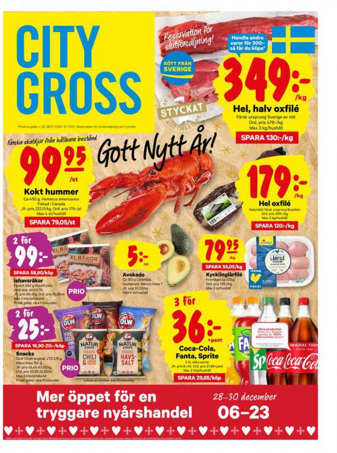 City Gross reklamblad . City Gross (2021-01-03-2021-01-03)