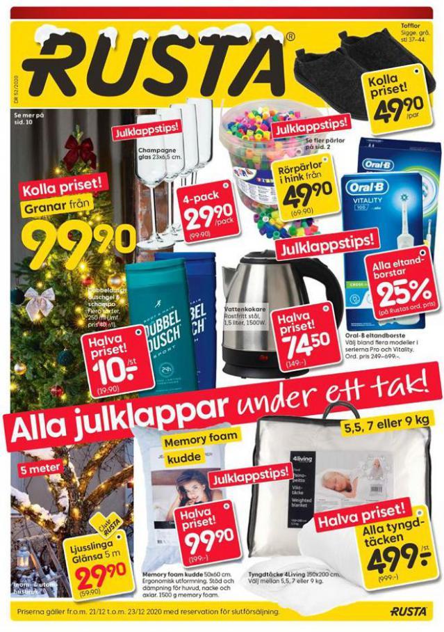 Rusta Erbjudande Alla julklappar under ett tak! . Rusta (2020-12-23-2020-12-23)