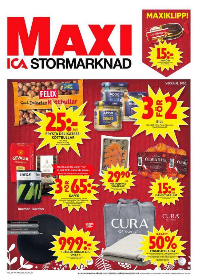 ICA Maxi Erbjudanden . ICA Maxi (2020-12-27-2020-12-27)