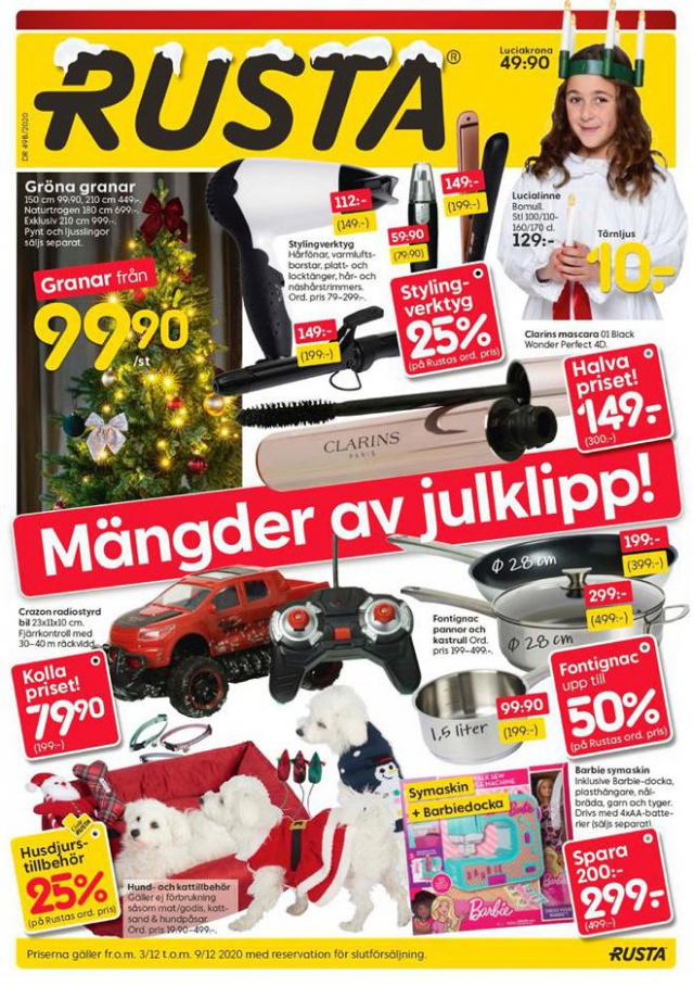 Rusta Erbjudande Mängder av julklipp! . Rusta (2020-12-09-2020-12-09)