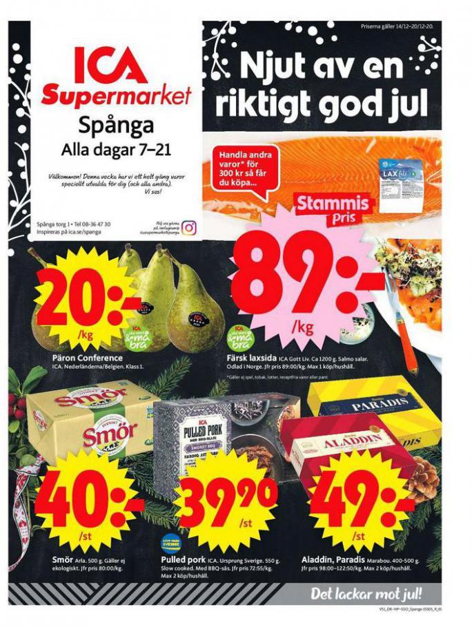 ICA Supermarket Erbjudanden . ICA Supermarket (2020-12-20-2020-12-20)