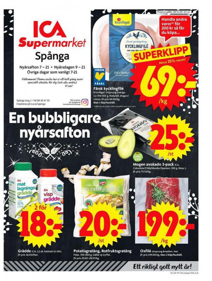 ICA Supermarket Erbjudanden . Page 1
