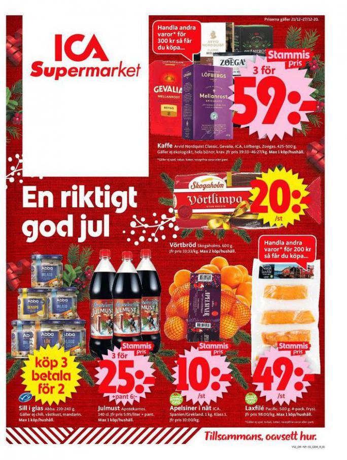 ICA Supermarket Erbjudanden . ICA Supermarket (2020-12-27-2020-12-27)
