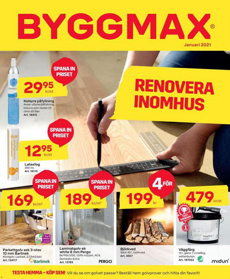 Byggmax Erbjudande January 2021 . Byggmax (2021-01-31-2021-01-31)