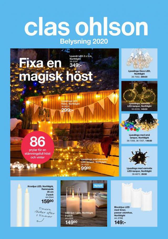 Belysning 2020 . Clas Ohlson (2021-01-31-2021-01-31)