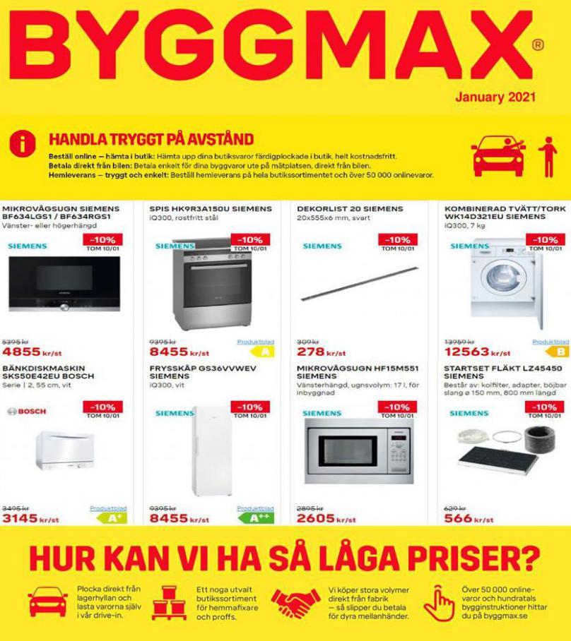 Byggmax Erbjudande January 2021 . Page 1