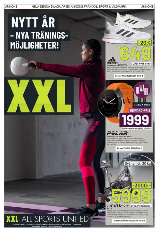 XXL Erbjudande Nya Träinings . XXL (2021-01-10-2021-01-10)