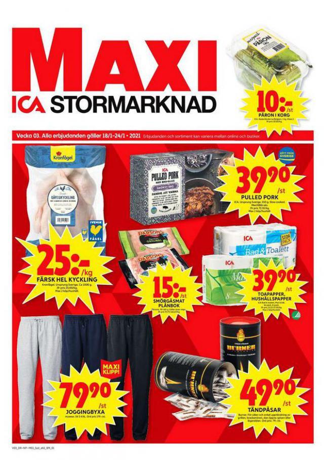 ICA Maxi Erbjudanden . ICA Maxi (2021-01-24-2021-01-24)