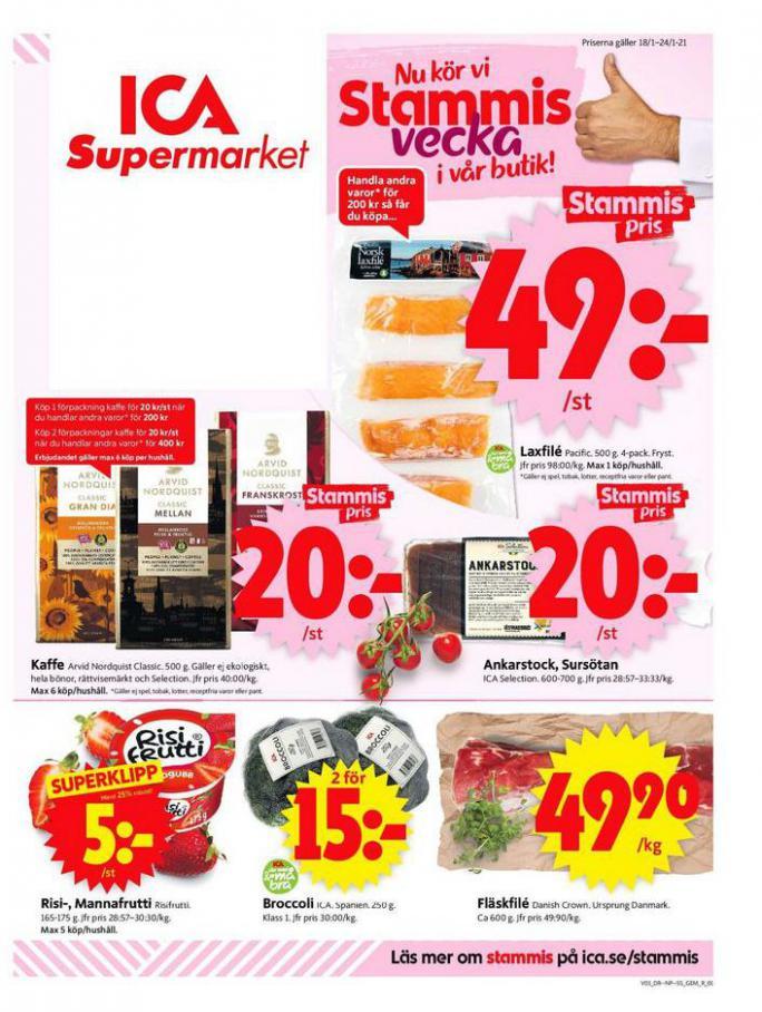 ICA Supermarket Erbjudanden . ICA Supermarket (2021-01-24-2021-01-24)