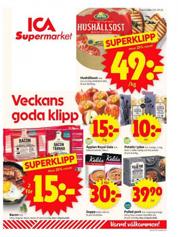 ICA Supermarket Erbjudanden . ICA Supermarket (2021-01-17-2021-01-17)