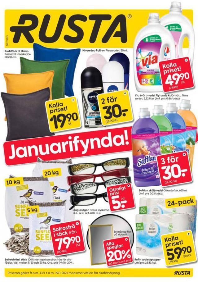 Rusta Erbjudande Januarifynda! . Rusta (2021-01-19-2021-01-19)