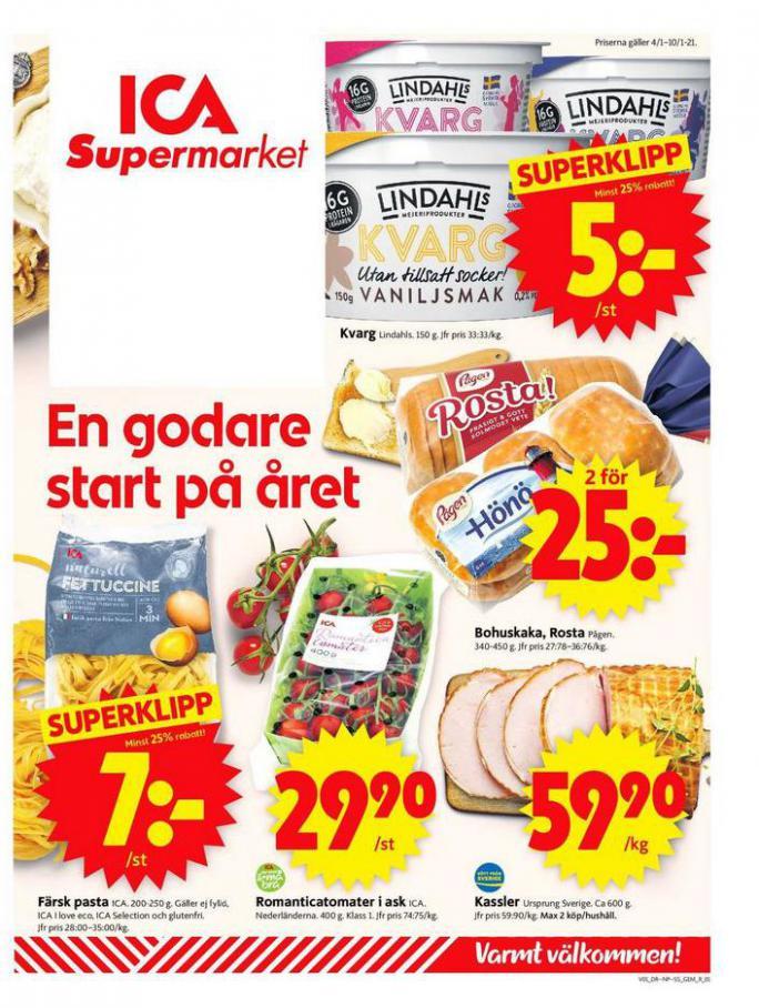 ICA Supermarket Erbjudanden . ICA Supermarket (2021-01-10-2021-01-10)