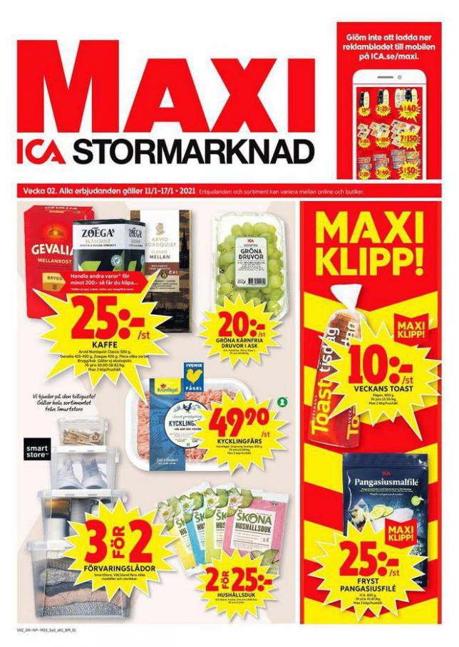 ICA Maxi Erbjudanden . ICA Maxi (2021-01-17-2021-01-17)