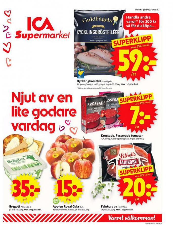 ICA Supermarket Erbjudanden . ICA Supermarket (2021-02-14-2021-02-14)