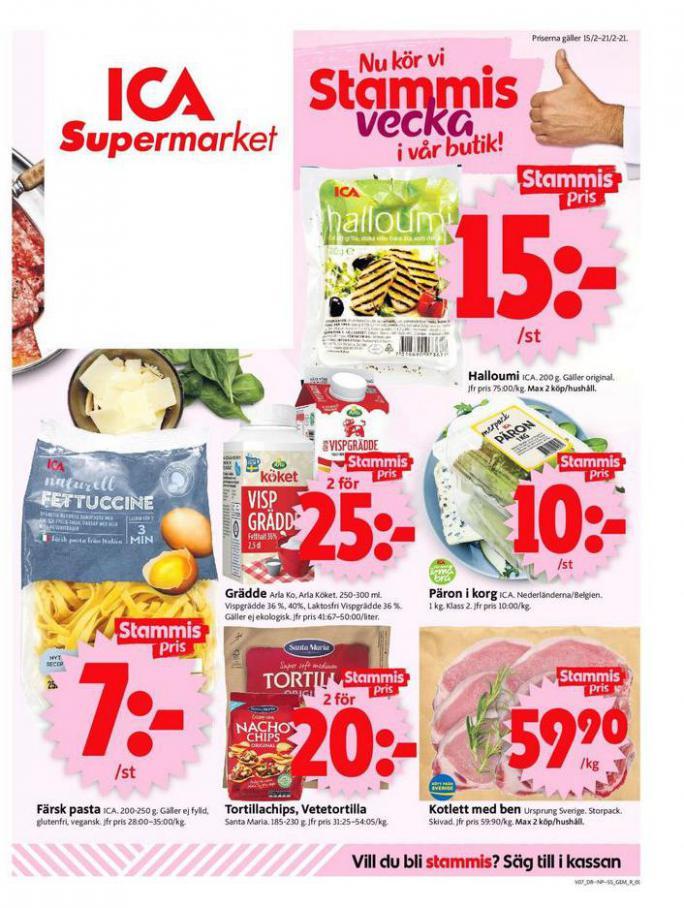 ICA Supermarket Erbjudanden . ICA Supermarket (2021-02-21-2021-02-21)