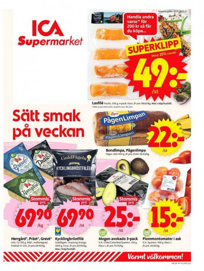 ICA Supermarket Erbjudanden . ICA Supermarket (2021-02-28-2021-02-28)