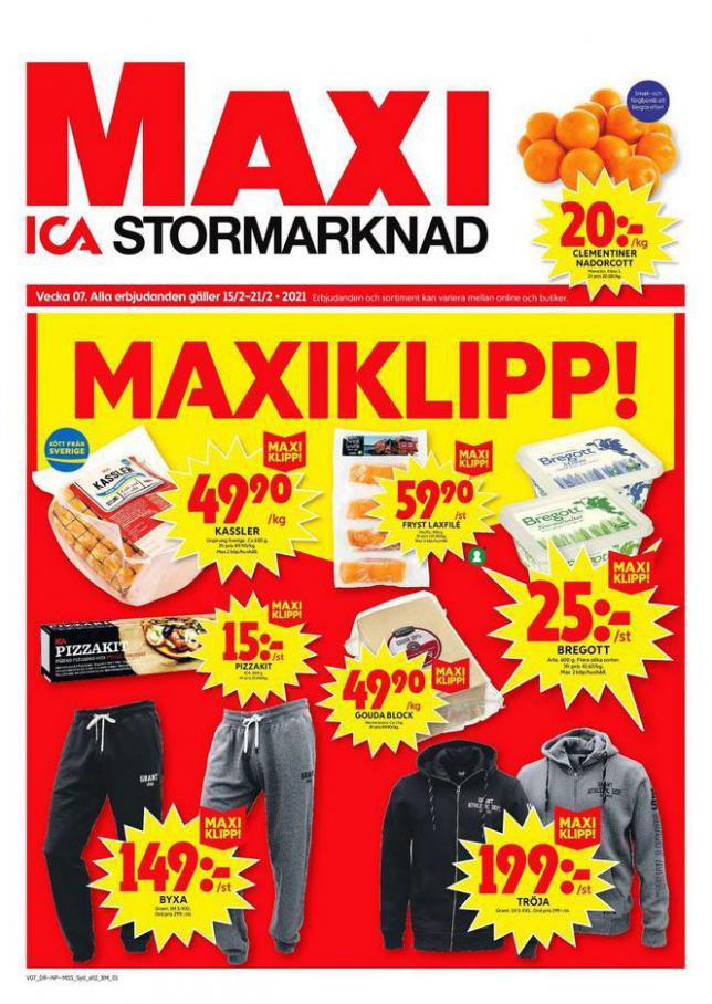 ICA Maxi Erbjudanden . ICA Maxi (2021-02-21-2021-02-21)