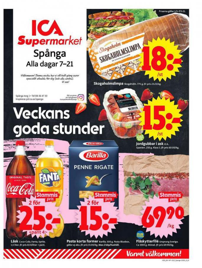 ICA Supermarket Erbjudanden . ICA Supermarket (2021-03-07-2021-03-07)