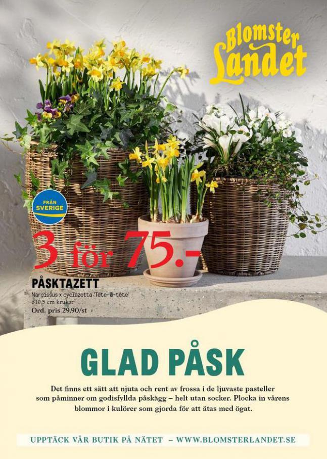 Blomsterlandet Erbjudande Glad Påsk . Blomsterlandet (2021-03-28-2021-03-28)